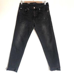 ZARA Women's Premium Distressed Jeans